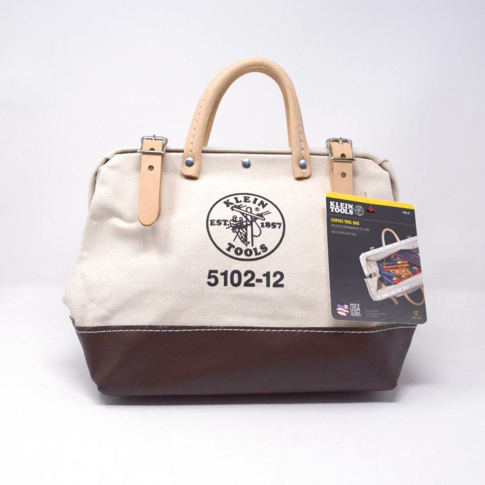 Klein Tools  / 5102-12 Canvas Tool Bag, White/Tan