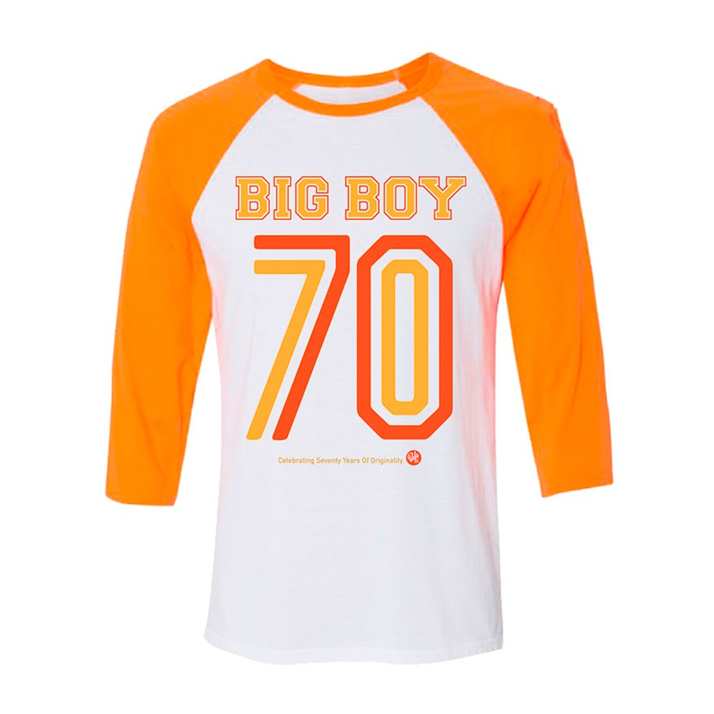 BOB'S BIG BOY / Vice Raglan Shirt, WHITE/ORANGE