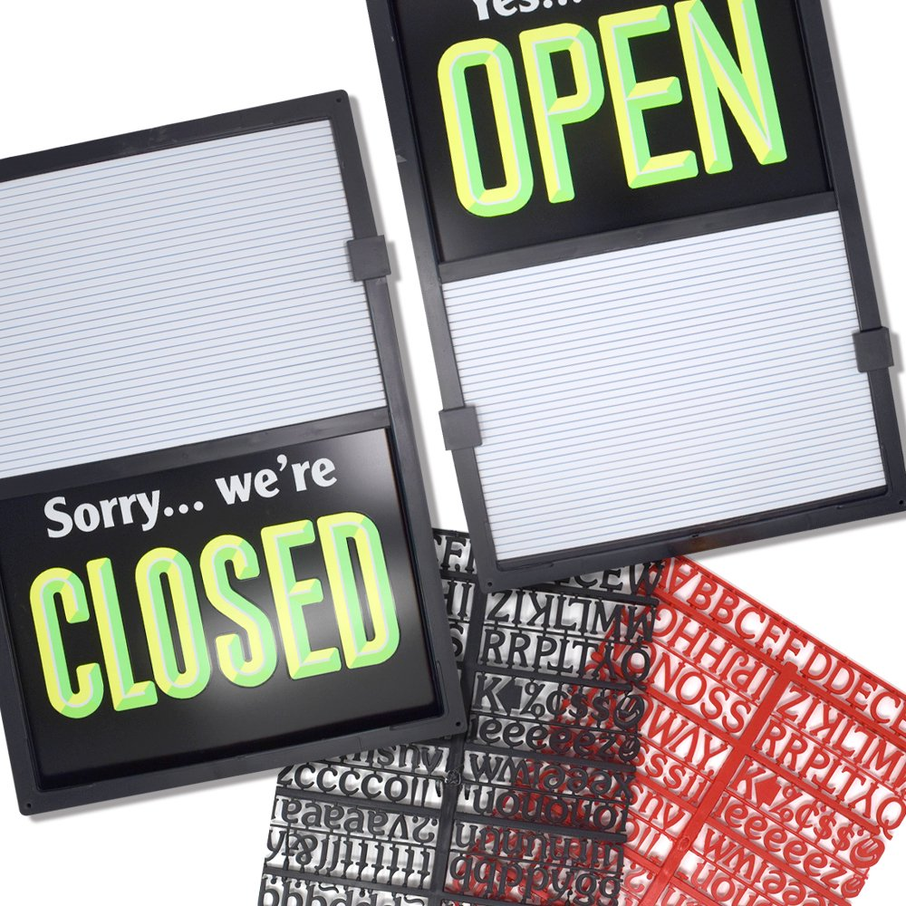 Open Closed Message Slider Board Sign