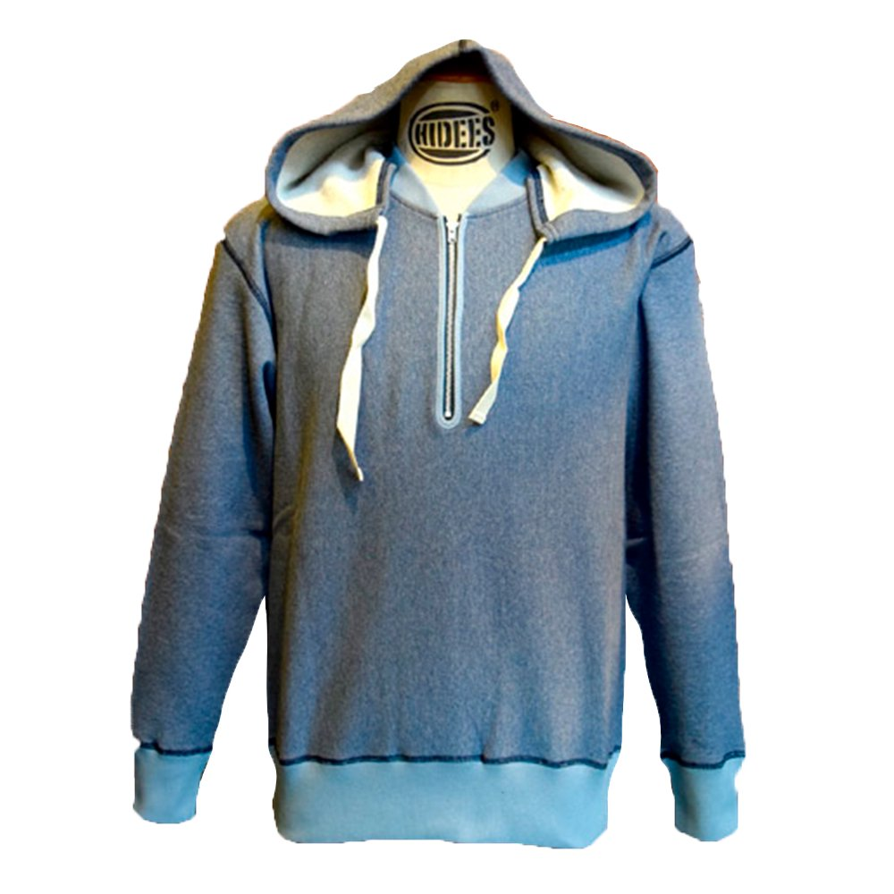 ANDFAMILY'S/  Halfzip Sweat Shirts hooded, Blue