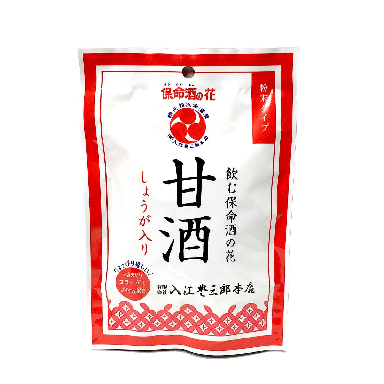 入江の甘酒(4食分入) / 保命酒粕(みりん粕)を使った粉末甘酒しょうが風味コラーゲン入、お湯で溶くだけのインスタント甘酒