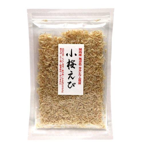 小桜えび(国内産、無着色)73g / お好み焼きや酢の物、えびチャーハンに炒め物、かきあげ天ぷらなど料理に役立つ素干し小エビ