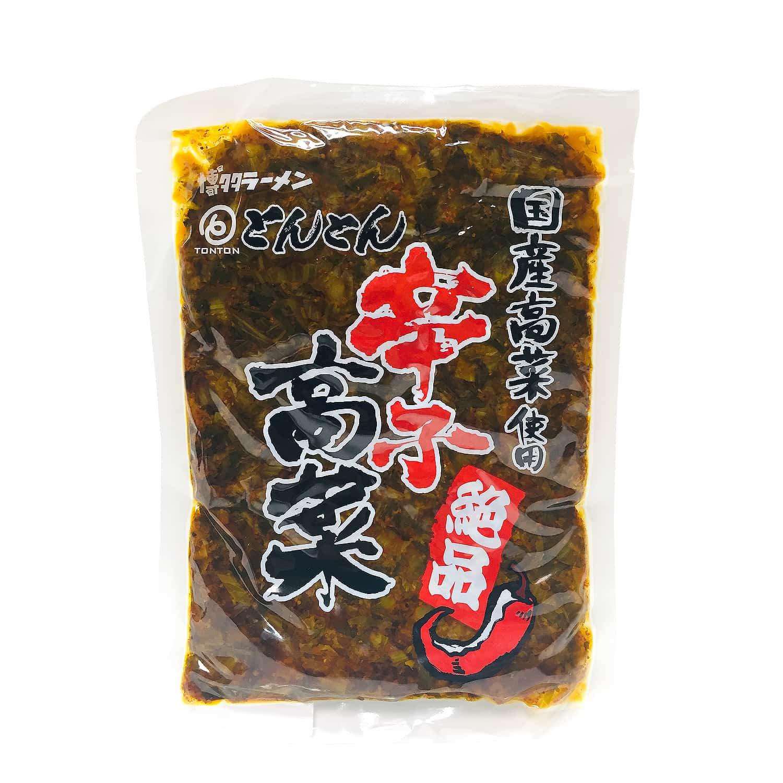 とんとん辛子高菜200g / 福山の有名店「博多ラーメンとんとん」の辛子高菜がご家庭で味わえる