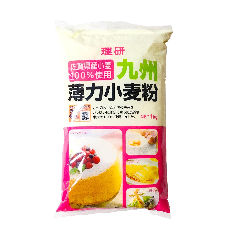 理研 九州 薄力小麦粉 1kg / 佐賀県産小麦100%使用、ケーキ作りやお料理に
