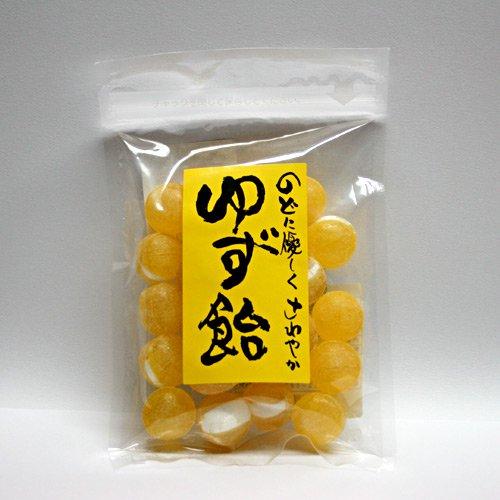 ゆず飴125g / のどにも優しくさわやか、沼隈町産ゆず果汁使用 人工甘味料不使用