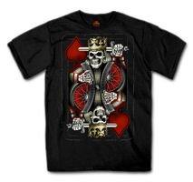 日本未発売!セール価格! Suicide King Tシャツ 希少! ブラック スカル バイクに!