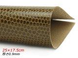 【在庫処分品】【切り革】ピッグ型押し リザード ブラウン 25×17.5cm 0.9mm