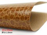 【在庫処分品】【切り革】ピッグ型押し レプタイルスキン チョコ 35×25cm 0.6mm