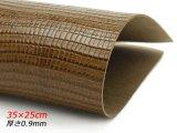 【在庫処分品】【切り革】ピッグ型押し トカゲ ブラウン 35×25cm 0.9mm