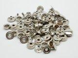 【箱売り】ジャンパーホック極小(#7090) ニッケル 直径9.6mm×足の長さ4.5mm 1000ヶ