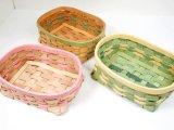 【型紙】床革テープで編むカゴ小 横14×縦11×高さ5cm