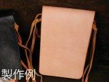 レザーワークショップ メディスンバッグLキット ナチュラル 18×14.4×2cm