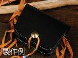 レザーワークショップ メディスンバッグSキット 黒 10.5×14.7×3cm