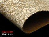 【在庫処分品】【切り革】ピッグプリント 粉雪 白(下地は茶) 35×25cm 0.8mm
