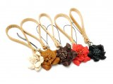 【完成品】ツイストフラワーシリーズ 小花のストラップ(小) 全5色 花の直径3cm 1ヶ