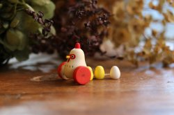 Ω社/木玩 うつくしき物 ー 鶏の親子 ー