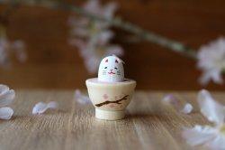 【受注制作】Ω社/お花見日和「桜の豆猫茶」(白)