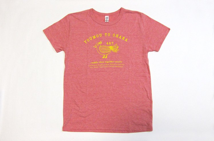 羊毛とおはな・羊毛とおはなの日 Tシャツ(鳥イラスト)