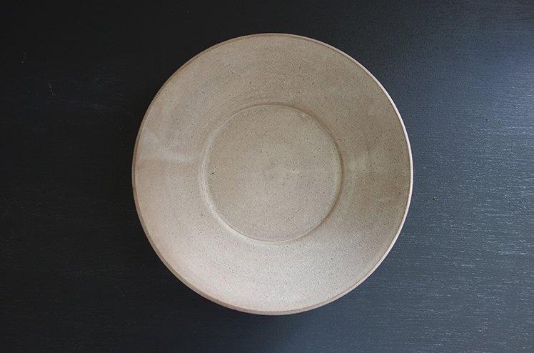 7寸やきしめ皿(白泥)[今井梨絵]