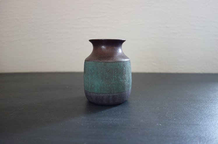 花器 Two tone vase(錆浅葱)[今井梨絵]