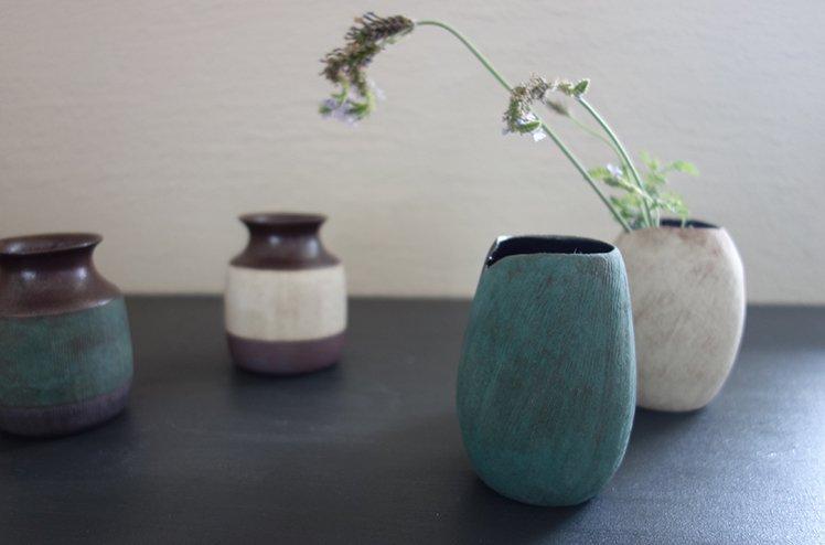 花器 Seed vase(錆浅葱)[今井梨絵]