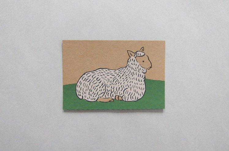ポストカード 羊  [七字由布]
