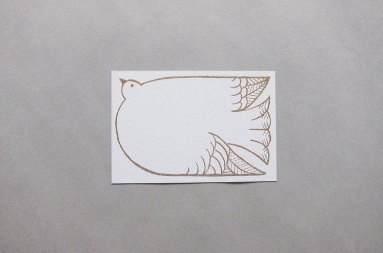 ポストカード 鳥 [七字由布]