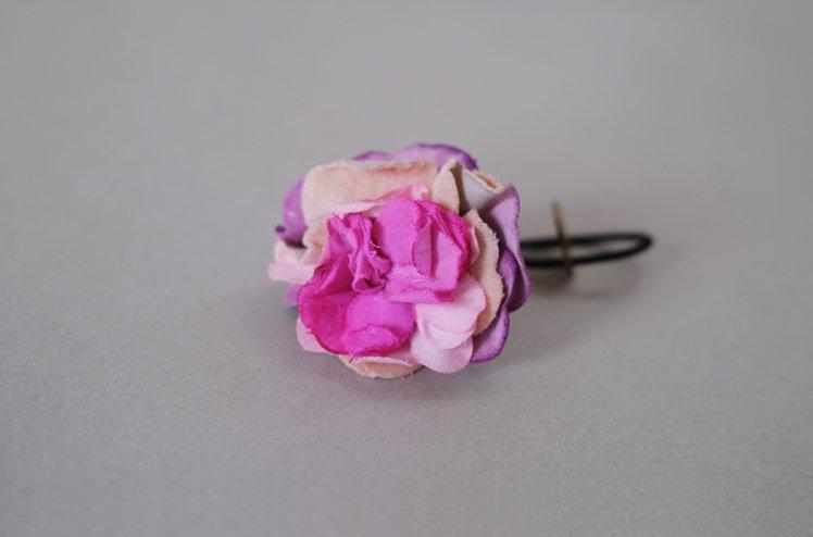 Flower hair elastic  (purple)  [MODERASeeK]