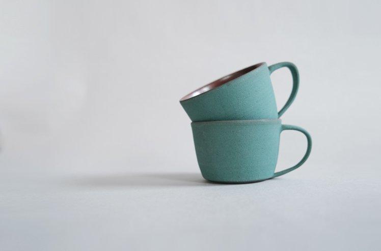 錆浅葱マグカップ[今井梨絵]