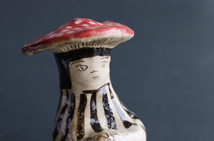 陶器「きのこの帽子」 [marini*monteany]
