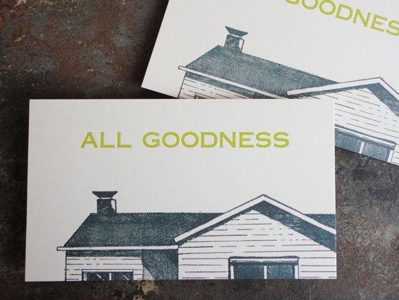 ALL GOODNESS[ SAB LETTER PRESS]