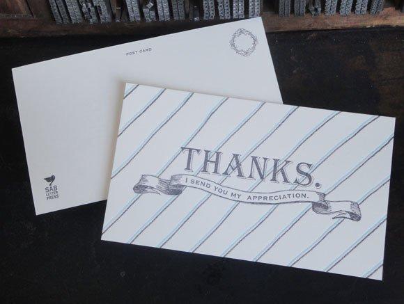THANKSカード[ SAB LETTER PRESS]