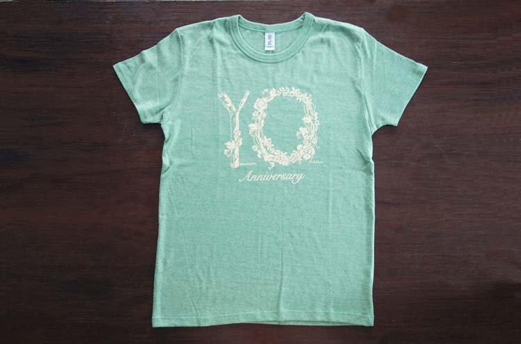 羊毛とおはな・10th Anniversary ・Tシャツ-Green