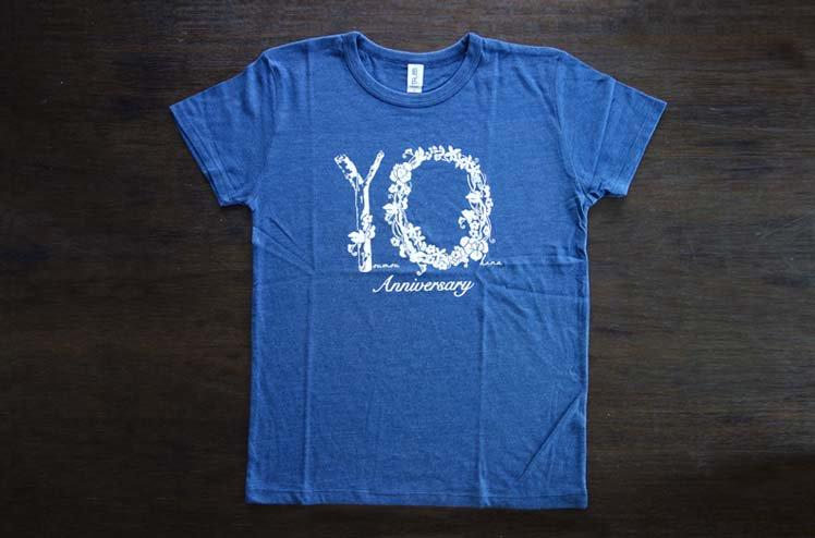 羊毛とおはな・10th Anniversary ・Tシャツ-Blue