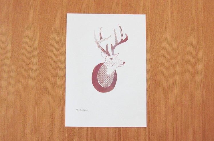 スクリーンプリント「Dear Deer」[七字由布]
