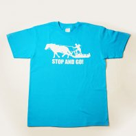 STOP and GO Tシャツ(ターコイズ)【レターパック対応】