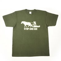 STOP and  GO Tシャツ(フォレスト)【レターパック対応】