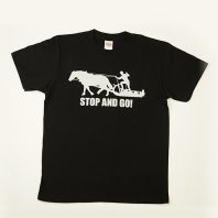 STOP and GO Tシャツ(黒)【レターパック対応】