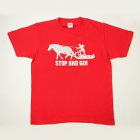 STOP and GO Tシャツ(赤)【レターパック対応】