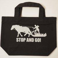 「STOP&GO」トートバッグSサイズ(黒)【レターパック対応】