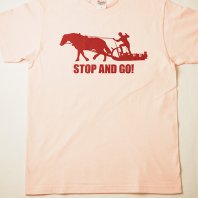 STOP and GO Tシャツ(ピンク)【レターパック対応】