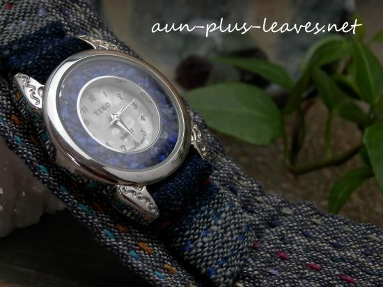 古布で作ったやさしい時計