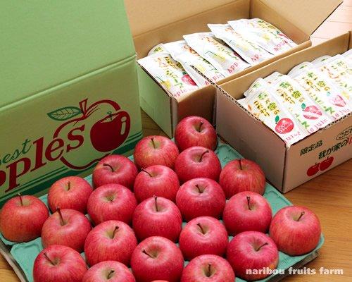 ふじ(5kg)とりんごジュース(20P×2箱...