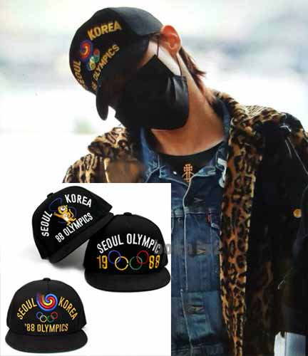 BIGBANG G-DRAGON着用 ソウルオリンピック デザインキャップ帽子 ★取り寄せ