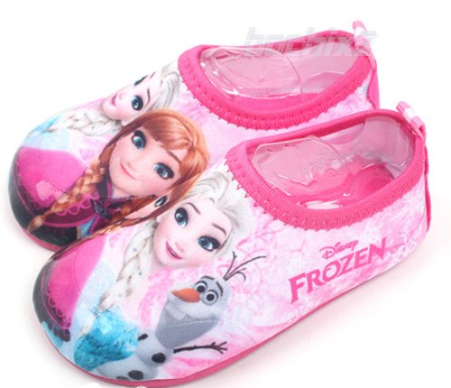 ディズニー公式 「アナと雪の女王」 アクアスキンシューズ  子供用15〜21cm ピンク ★取り寄せ