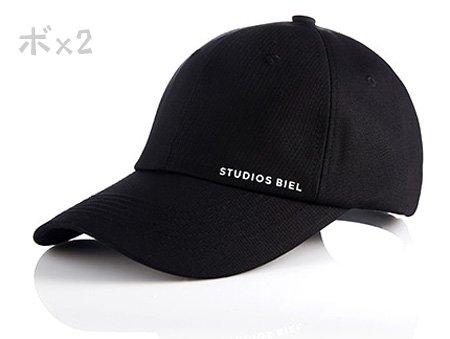 <img class='new_mark_img1' src='https://img.shop-pro.jp/img/new/icons6.gif' style='border:none;display:inline;margin:0px;padding:0px;width:auto;' />JYJ ジュンス着用帽子 studiosbiel STUDIOS BIEL ボールキャップ ブラック★取寄せ