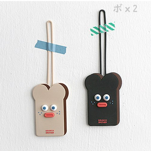 <img class='new_mark_img1' src='https://img.shop-pro.jp/img/new/icons6.gif' style='border:none;display:inline;margin:0px;padding:0px;width:auto;' />ROMANE Brunch Brother トースト ラゲッジタグ ネームタグ 全2種★取寄せ