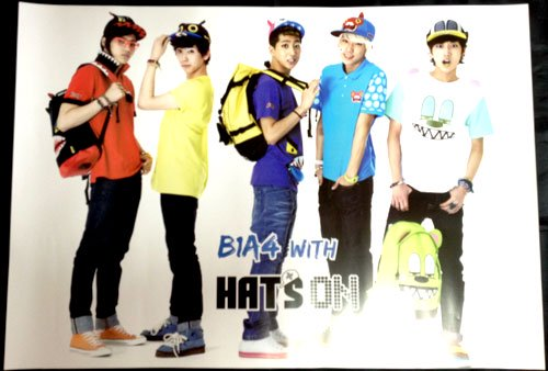 B1A4 HAT'S ON 「WITH」 ポスター非売品