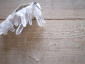 muule / Harkimer diamond + rope necklace