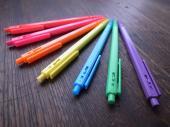 カラフルボールペン